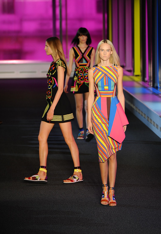 . Models walk the runway at the Peter Pilotto show during London Fashion Week Spring Summer 2015 on September 15, 2014 in London, England.  (Photo by Stuart C. Wilson/Getty Images)