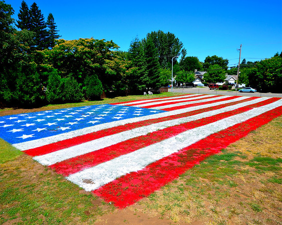 Giant US Flag July 4th 2011