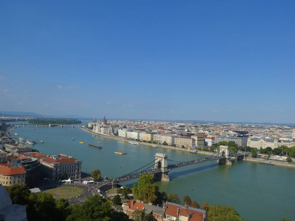 48 Hours in Budapest: View from the National Gallery at Buda Castle