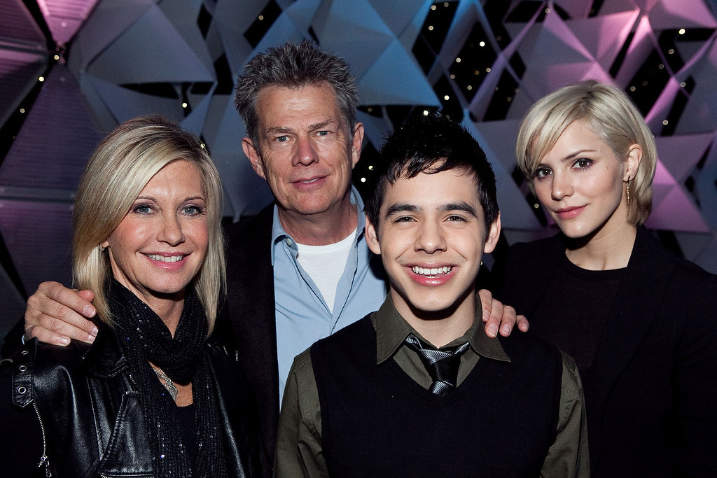 ". WASHINGTON - NOVEMBER 16:  (l to r) Performers Olivia Newton-John, David Foster, David Archuleta and Katharine McPhee at the ""Kaleidoscope\"" rehearsal presented by sanofi-aventis US airing nationally on Thanksgiving Day on FOX at Verizon Center on November 16, 2009 in Washington, DC.  (Photo by Paul Morigi/Getty Images for Edge Health)"