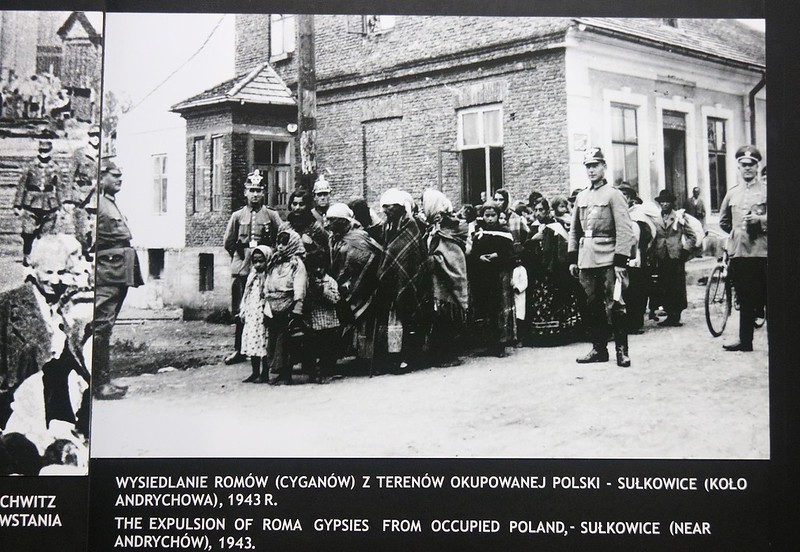 Gypsies in Poland being expelled. Our Serbian Tour Guide said gypsies are the most discriminated group in Eastern Europe today. In WWII only the treatment of the Jews trumped them for abuse.