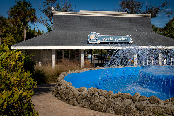Weeki Wachee Springs State Park Ticket Booth and Fountain