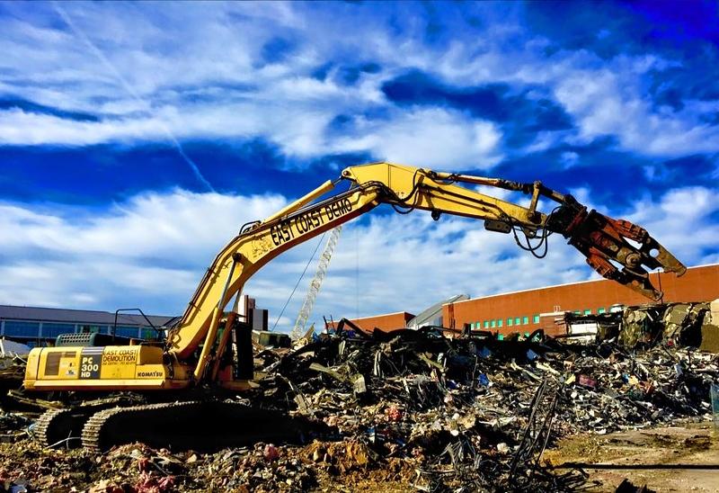 NPK M28G material processor on Komatsu excavator - commercial demolition - East Coast Demolition.jpg