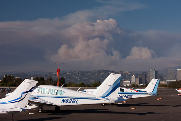 Station Fire as seen from LAX and SMO 8 30 09
