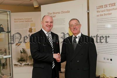 Mr John Farrell, New Director of Environmental Health and CEO Tom Mc Call.06W44N8
