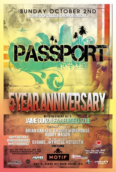 Jaime Gonzalez & George DeSoul presents PASSPORT @ MOTIF Lounge 10.2.11