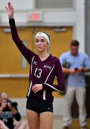 10/30/2019 Mike Orazzi | StaffrBristol Central's Emily Ericson (13) during Wednesday night's volleyball match with Bristol Eastern.