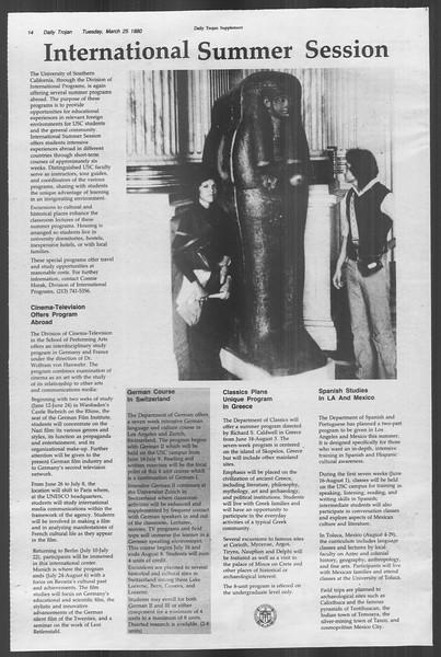 Daily Trojan, Vol. 88, No. 35, March 25, 1980