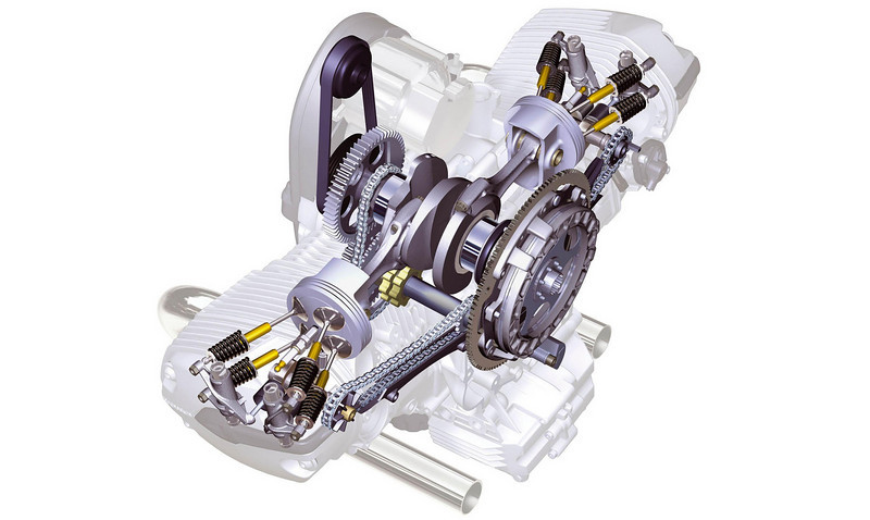 BMW R1200GS Boxer engine drawing