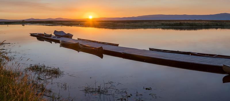 Sunrise on Upper Klamath Lake