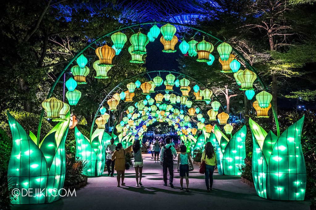 Mid-Autumn at Gardens by the Bay - Giant Lantern Display / Entrance Rabbit Lanterns Arch 2