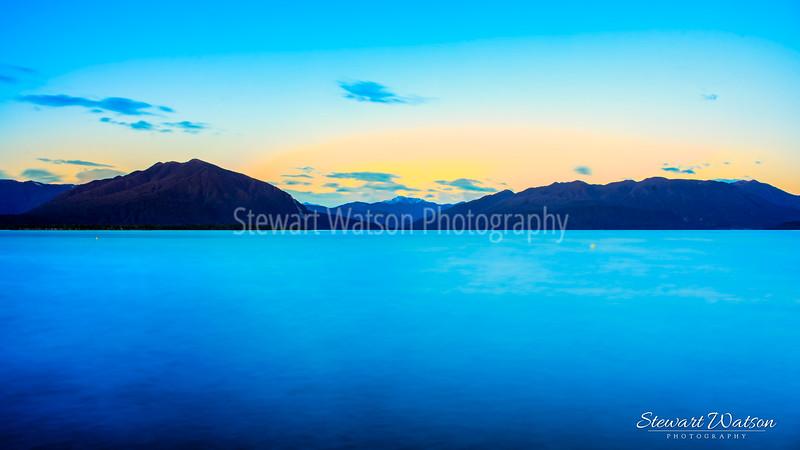 Lake Brunner very early morning as the sun rises