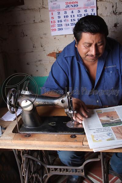 Hard at work in Ataco. ConConcepcion de Ataco, Ahuachapan, El Salvador.