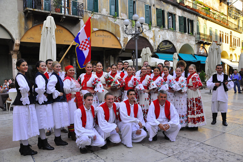 Croatian contingent.  You should see them dance!