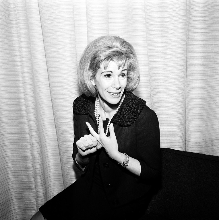 . Comedienne Joan Rivers is shown in Los Angeles, Ca., April 12, 1965.  (AP Photo/Dan Grossi)