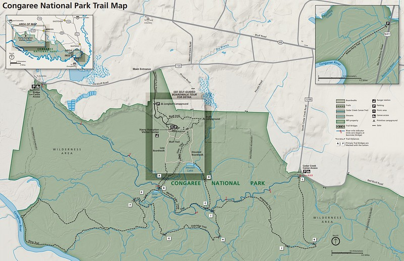 Congaree National Park (Trail Map)