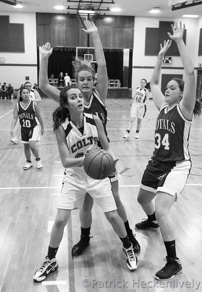 2013-02-19 Hillsdale Academy Girl's Junior Varsity and Varsity Basketball vs. Jackson Christian, Senior Night
