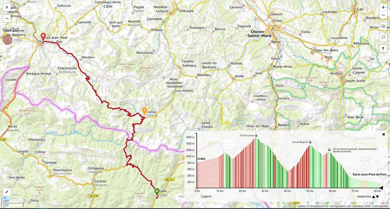 Etapa 13 en autocaravana o camper recorriendo el Pirineo por las carreteras del Tour de Francia