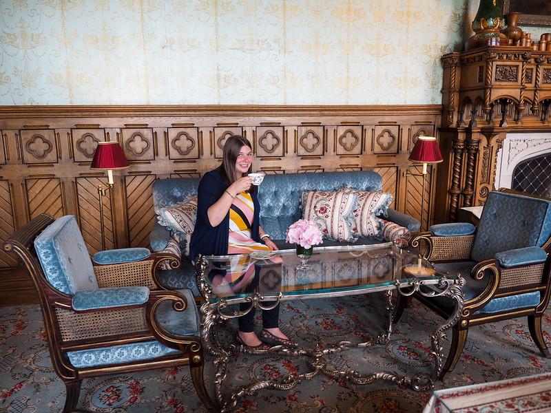 Amanda at Afternoon Tea at Ashford Castle