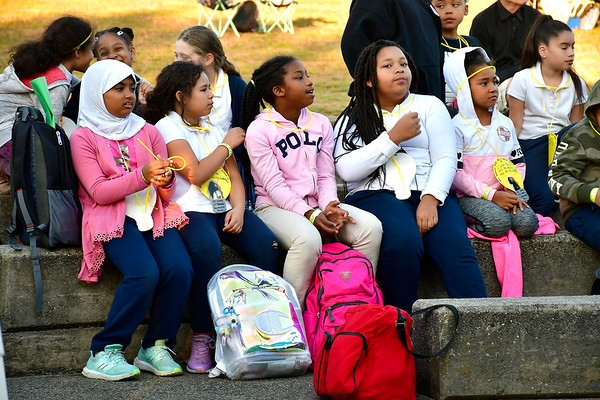 10/24/2019 Mike Orazzi | StaffrNew Britain school children while attending the Lights On Afterschool event at Walnut Hill Park organized by the Youth and Workforce Group of the Coalition for New Britains Youth on Thursday evening.
