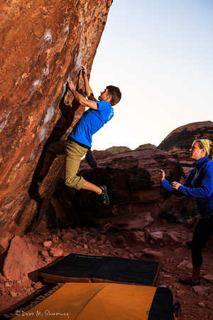 Climbing in Red Rock Canyon - NV