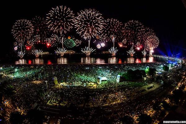 REVEILLON Copacabana 2017-18 na LAJE -  MMcom