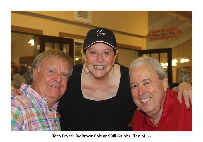 Terry Payne '66, Kay Brown Cole '65, Bill Grubbs '65.jpg