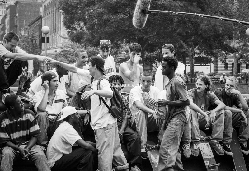 """KIDS"" movie filming in Washington Square Park 1994"