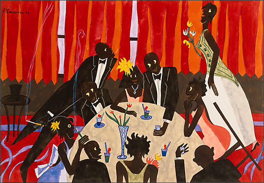 "Jacob Lawrence, ""And Harlem Society Looks On"" (1943)"