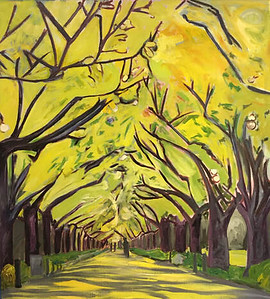 """""""Grove of Ginkgo"""" (oil on canvas) by Maggie Bandstra"""