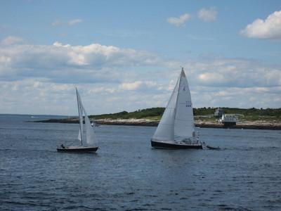 Boats and Sailing around Star