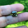 4.57ct Fancy Dark Greenish Yellow Brown Asscher Cut Diamond GIA 13