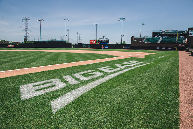 St. John's takes on Georgetown in the Big East Tournament at Prasco Park on May 23, 2018.