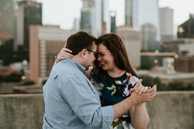 Houston City Lights Engagement Session - Houston Engagement Photographer