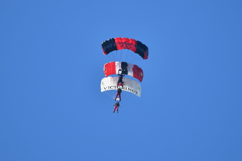 US Army Special Operations Command Parachute Team, the Black Daggers and the British Army's Parachute Regiment, the Red Devils