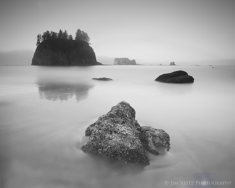 Long-exposure - Second Beach, Olympic National Park
