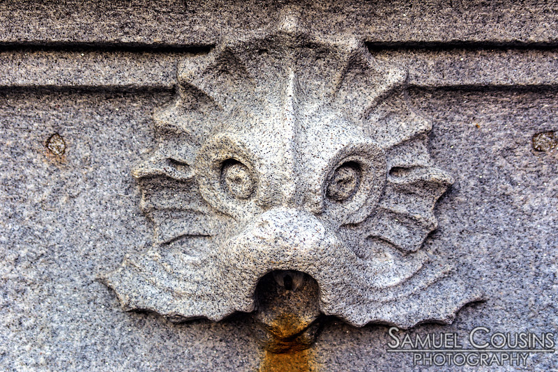 Detail on the Boothbay Square fountain