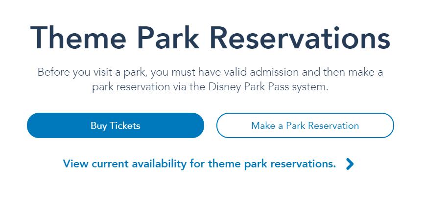 Disneyland Park Reservation Required
