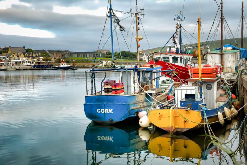 Boats in Dingle Harbor
