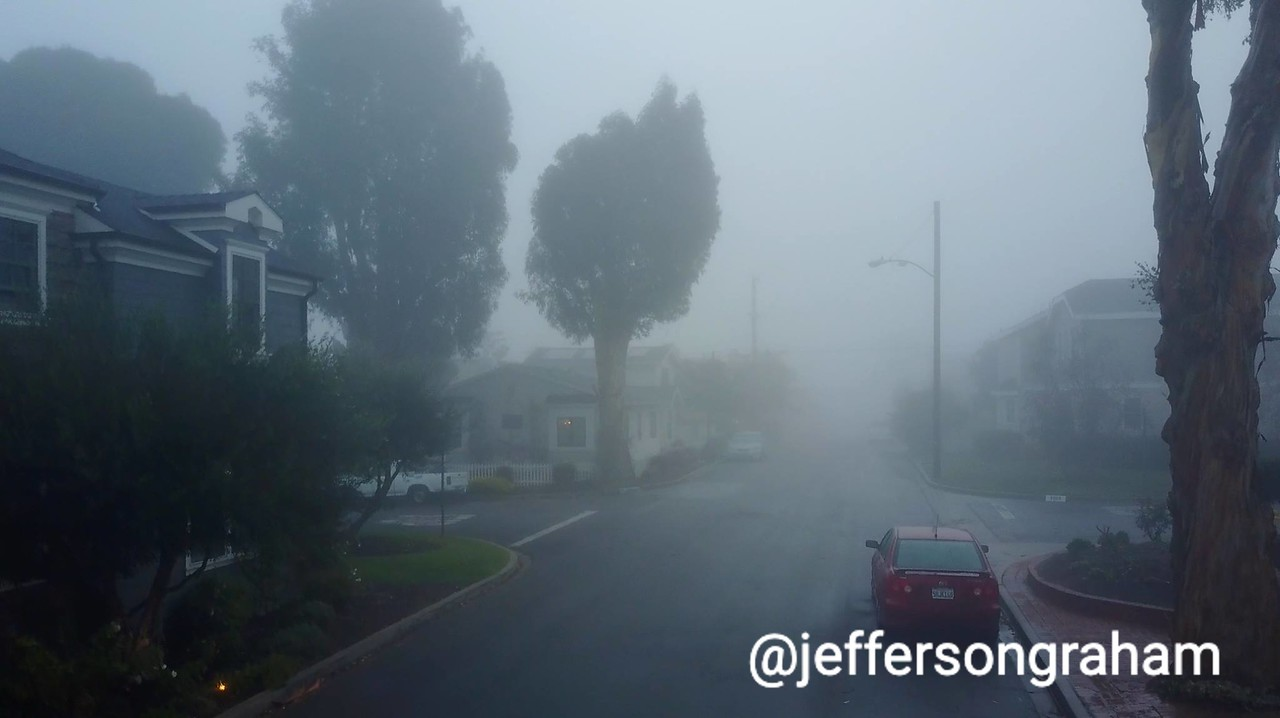 It can get really foggy in the morning