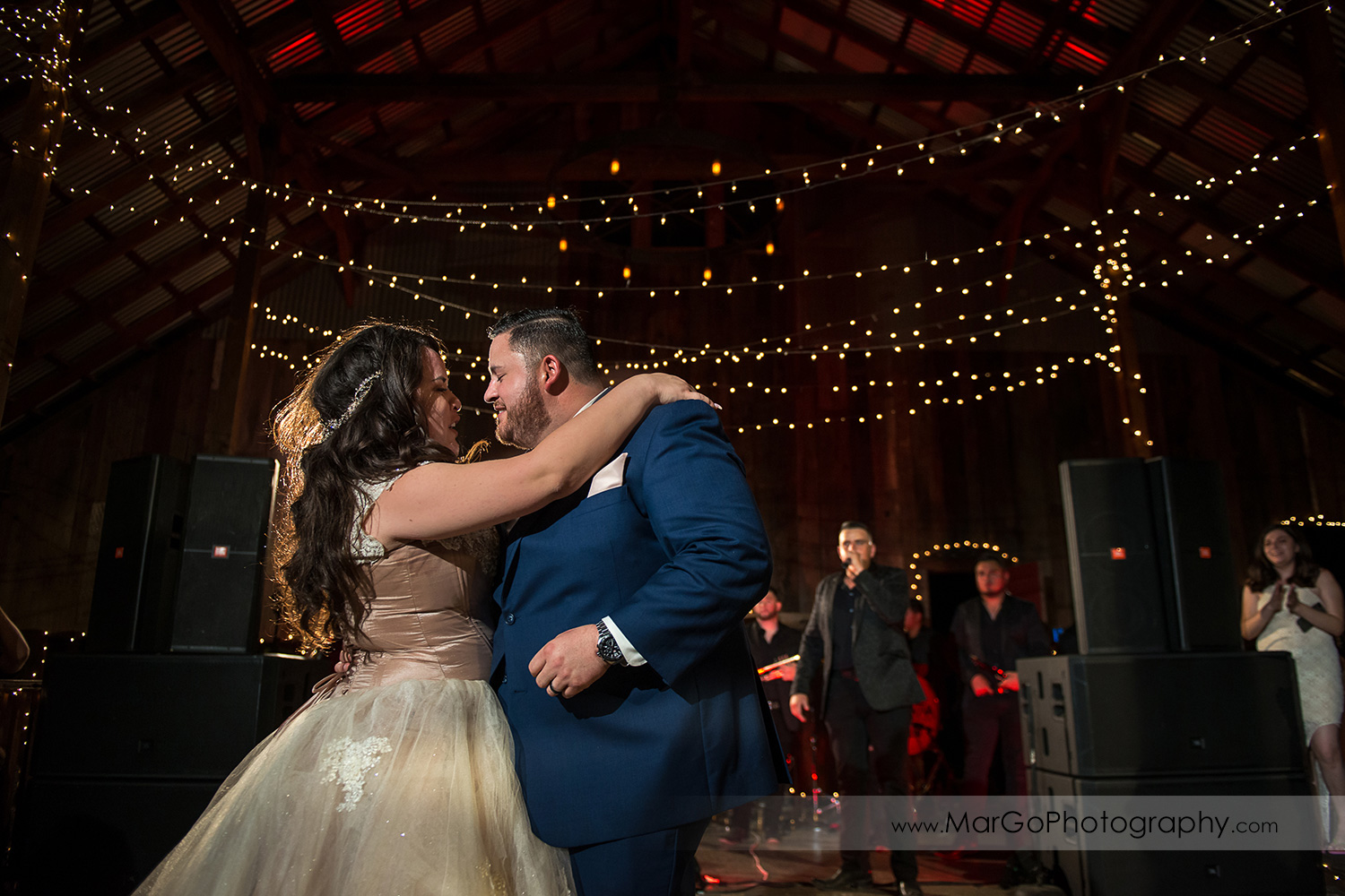 bride and groom during first dance at wedding recetpion at Taber Ranch Vineyards