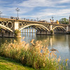 Embankment and the Triana Bridge, Seville, Spain