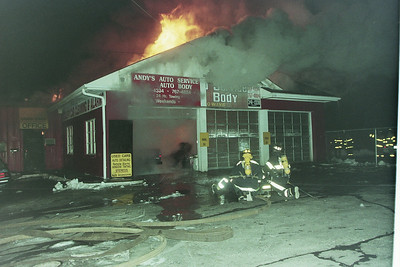 Building Fire Andy's Auto 236 Plymouth Street, Holbrook Ma.