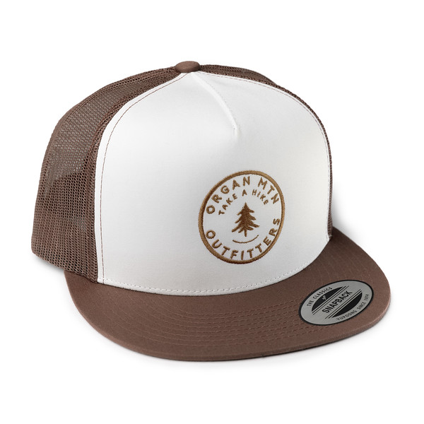 Outdoor Apparel - Organ Mountain Outfitters - Hat - Take A Hike Trucker Cap - Brown White Brown.jpg