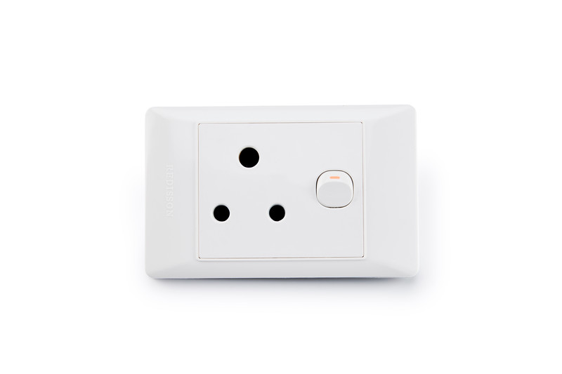 REDISSON, 3 Prong Hole AC Electrical Outlet Wall Switch