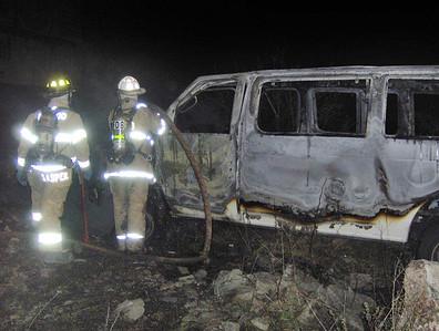 Van Fire, from Vinny, MM136, I81, Delano Township (4-29-2012)