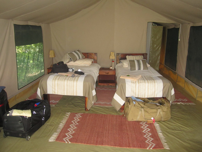 Rekero Camp, Maasai Mara.  Our tent.