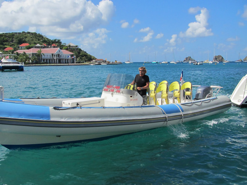 "Our ""stand-up"" speed boat"