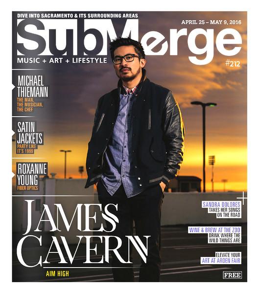 James Cavern - Submerge Magazine Cover
