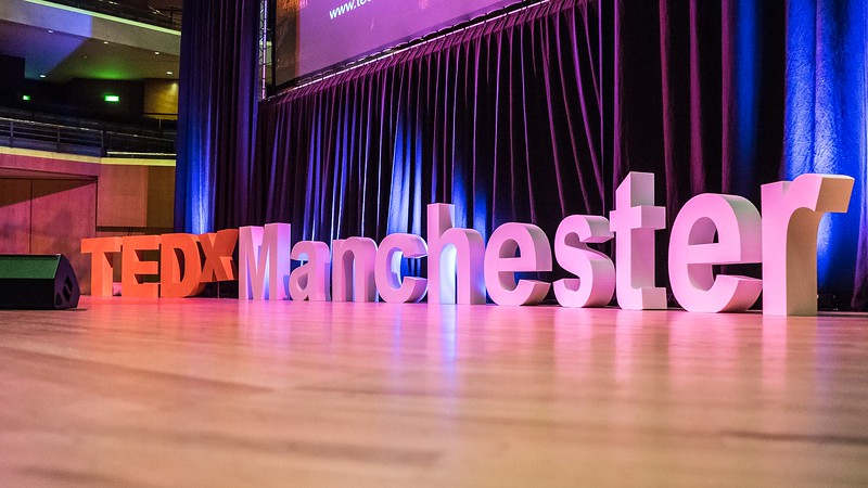 TEDxManchester 2018 stage